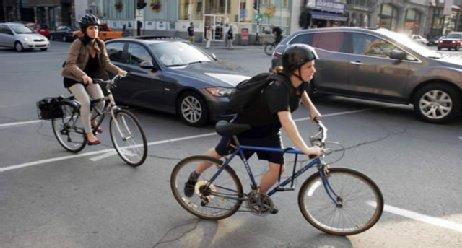 Sicher radfahren, auch mit E-Bikes