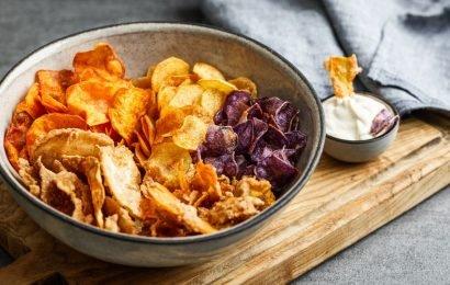 Kartoffel- und Gemüse-Chips