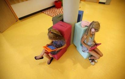 Schwere Zeit auf dem Bildschirm angezeigt wird, um die Auswirkungen childrens' Gehirn: Studie