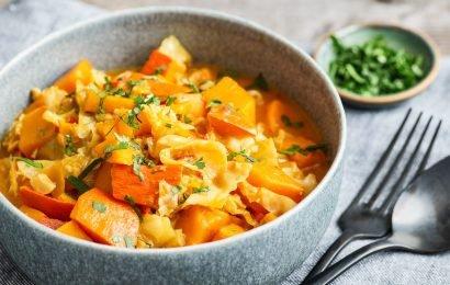Kürbis-Wirsing-Curry – basenüberschüssig