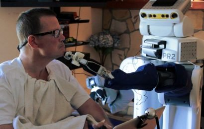 Sehen durch einen Roboter in die Augen hilft Menschen mit schweren motorischen Beeinträchtigungen