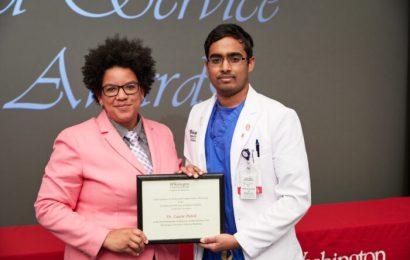 Medizinstudenten Feiern Ihre Lehrer, Mentoren