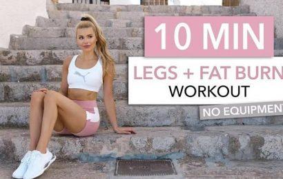 Beine trainieren & Fett abbauen: 10 Minuten-Workout von Pamela Reif