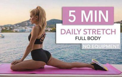 Perfekt für jeden Tag: Fünfminütige Stretch-Routine mit Pamela Reif